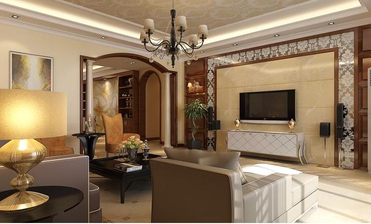 新芒果和郡 简欧风格 客厅图片来自美巢装饰在新芒果和郡143三室简欧设计的分享