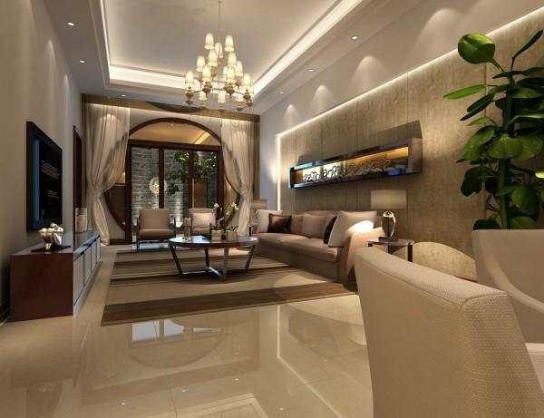 金科王府新中式风格装修案例之客厅