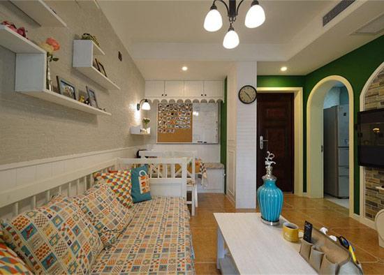 混搭 美式 地中海 鑫苑世家 客厅图片来自沪上名家装饰在鑫苑世家美式地中海混搭实景的分享