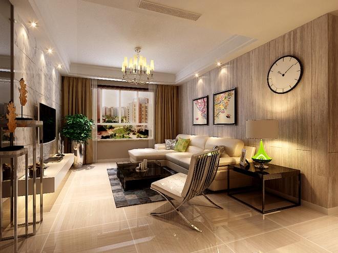 简约 现代简约 三居 收纳 小资 客厅图片来自上海实创-装修设计效果图在105平现代简约时尚雅居的分享