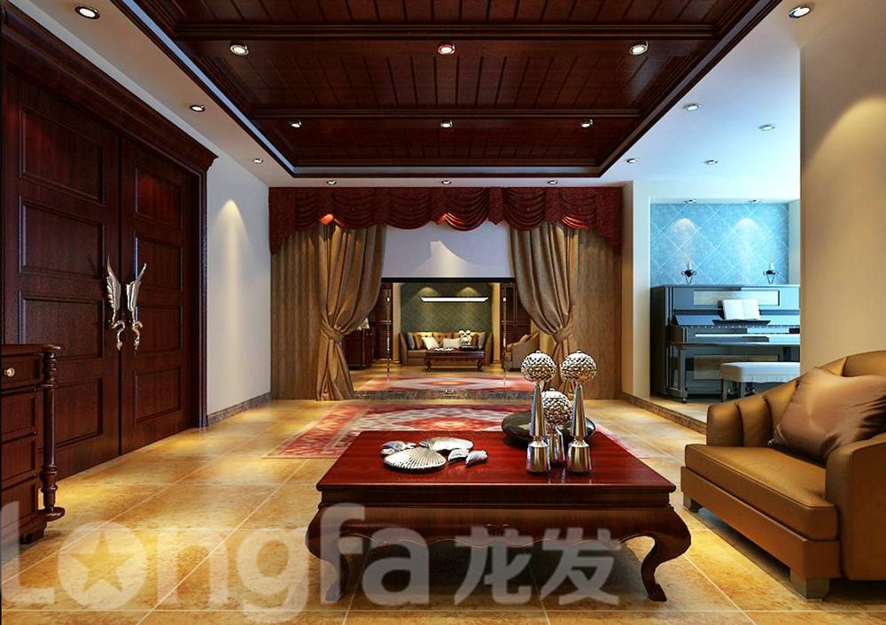 欧式 别墅 白领 80后 小资 客厅图片来自北京龙发装石家庄分公司在江南新城别墅案例的分享