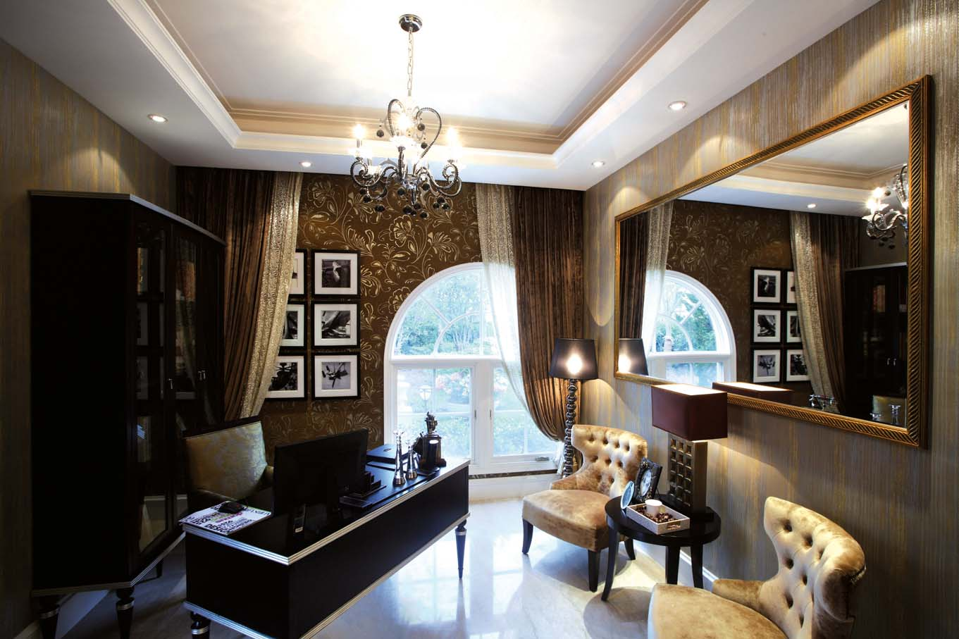 欧式 别墅装修 别墅设计 棕榈高尔夫 奥邦装饰 张文作品 书房图片来自上海奥邦装饰在上海棕榈高尔夫别墅样板间装修的分享