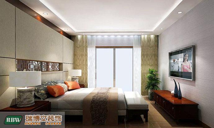 中式 三居 卧室图片来自石家庄瑞博文张琳在四季花城--148平米中式风的分享