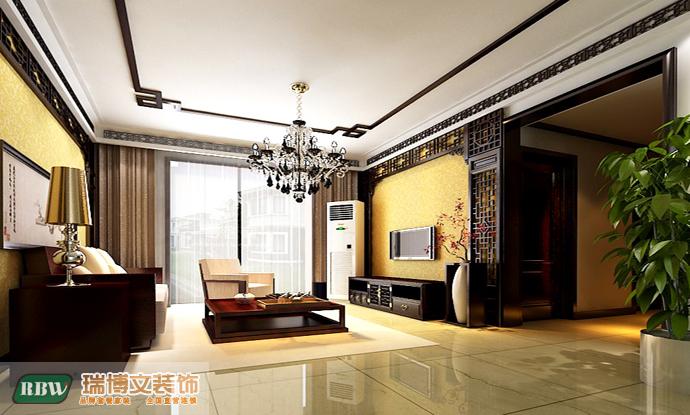 中式 三居 客厅图片来自石家庄瑞博文张琳在四季花城--148平米中式风的分享