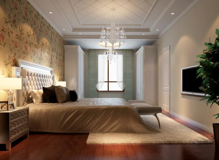简约 四居室 白领 收纳 80后 小资 卧室图片来自实创装饰都琳在新婚恋人的简约中式混搭田园家的分享