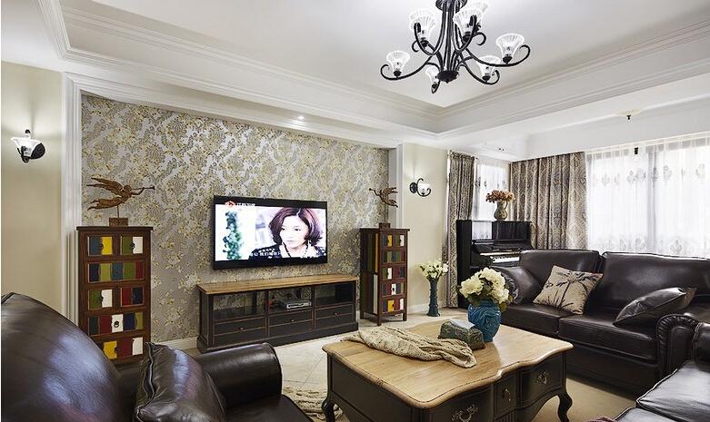 三居 美式 客厅图片来自佰辰生活装饰在【高清】140平豪装优雅美式三居的分享
