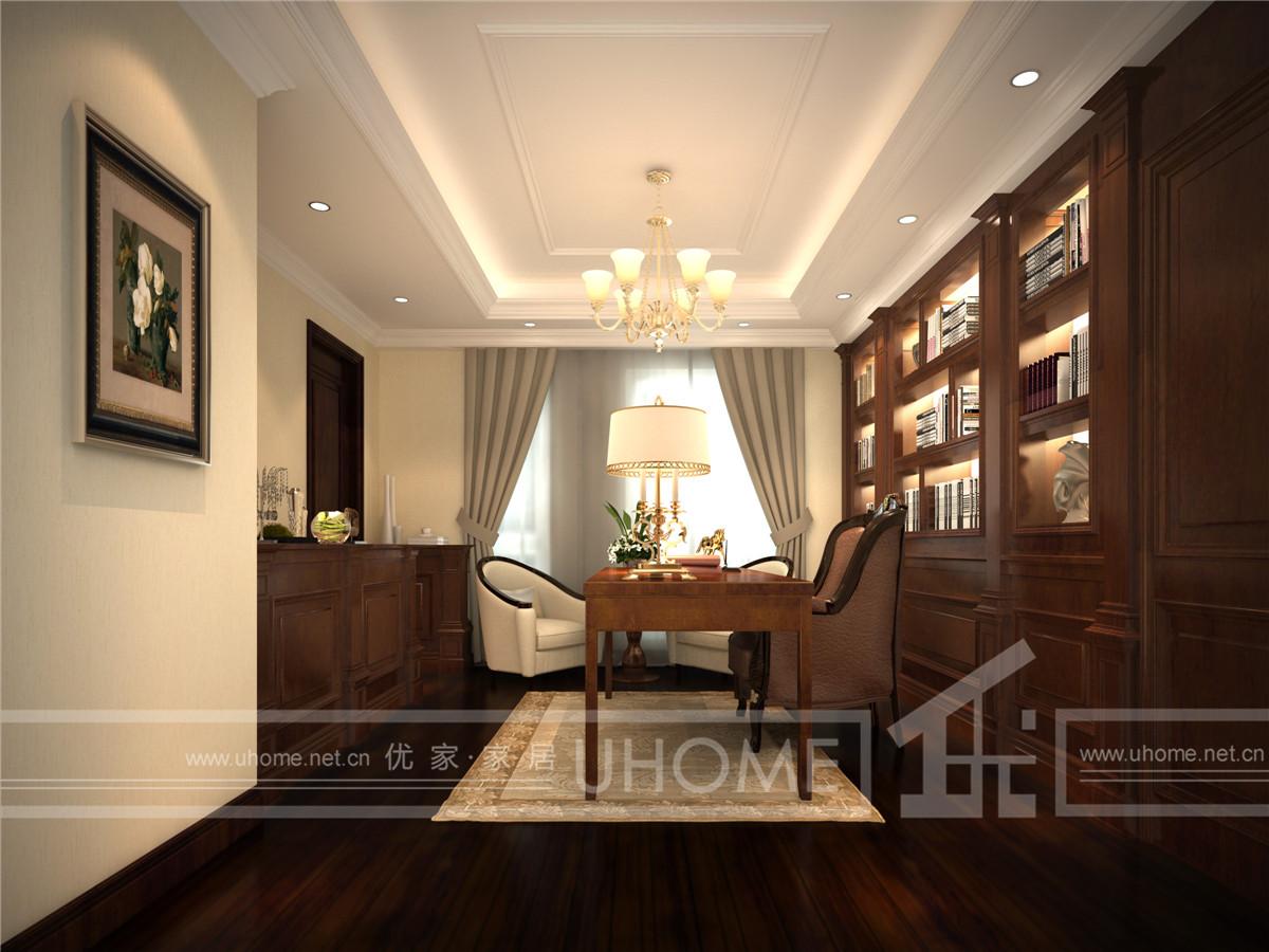 西郊半岛 别墅装修 现代风格 奥邦装饰 赵新艳作品 书房图片来自上海奥邦装饰在西郊半岛别墅现代风格设计的分享