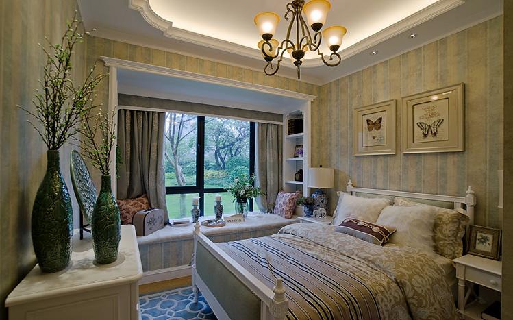 简约 美式 三居 白领 收纳 80后 小资 卧室图片来自实创装饰百灵在现代美式家装修117平米三居室的分享