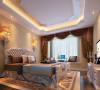 柔和的色调,功能很强的飘窗,与整体空间色调统一的窗帘