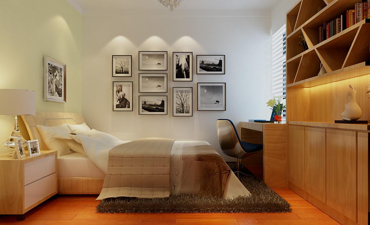 简约 二居 卧室图片来自实创装饰上海公司在简约风格-两居室的分享