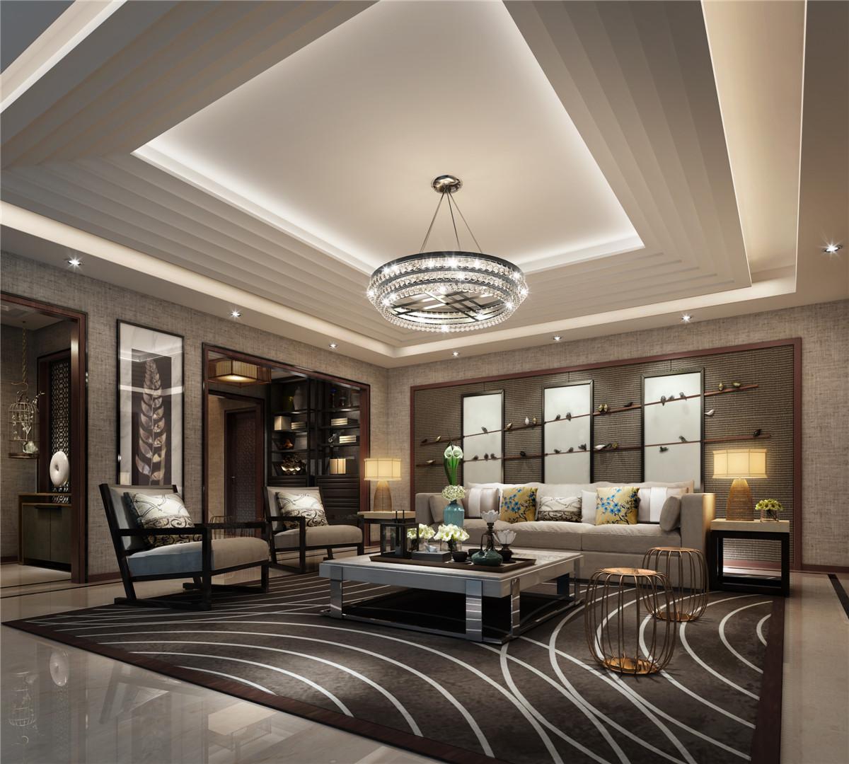 别墅装修 别墅设计 现代风格 奥邦装饰 客厅图片来自上海奥邦装饰在浦江华侨城别墅最新设计简约风的分享