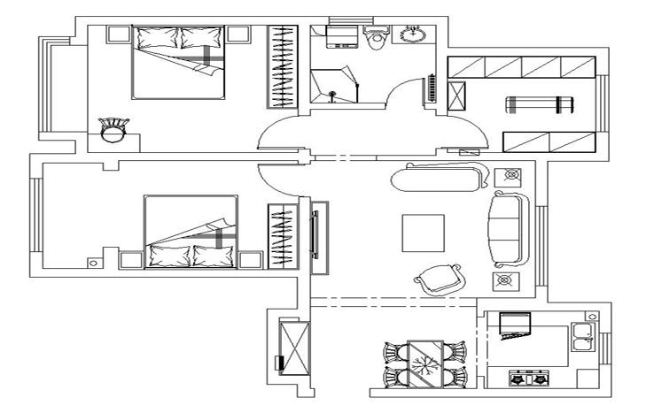 欧式 小资 二居 户型图图片来自贾凤娇在首开·玲珑汇的分享