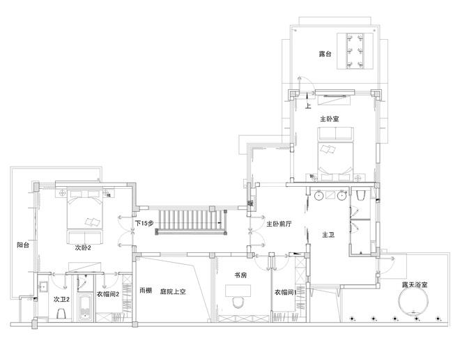 别墅 新古典设计 高雅大气 时尚温馨 80后 户型图图片来自上海实创-装修设计效果图在245平新古典时尚别墅的分享