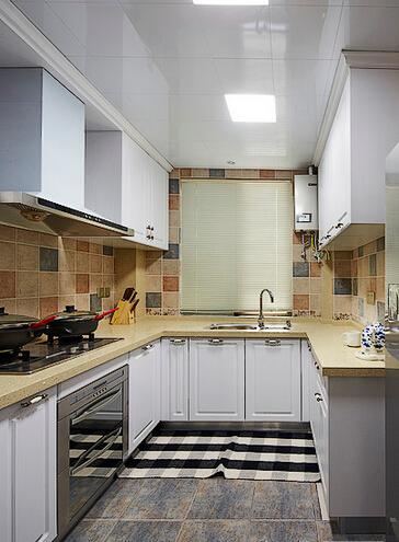 三居 美式 厨房图片来自佰辰生活装饰在【高清】140平豪装优雅美式三居的分享