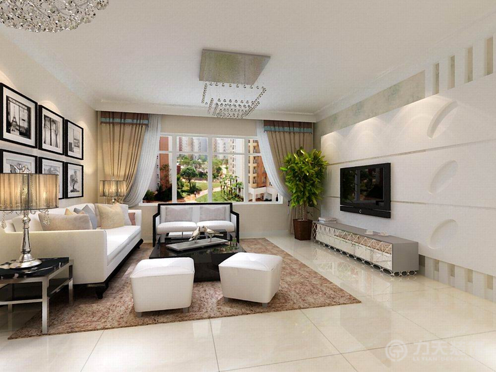 二居 白领 收纳 旧房改造 80后 小资 客厅图片来自阳光力天装饰梦想家更爱家在喜蜜湾2室2厅87㎡现代简约的分享
