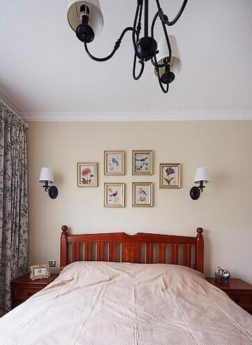 三居 美式 卧室图片来自佰辰生活装饰在【高清】140平豪装优雅美式三居的分享