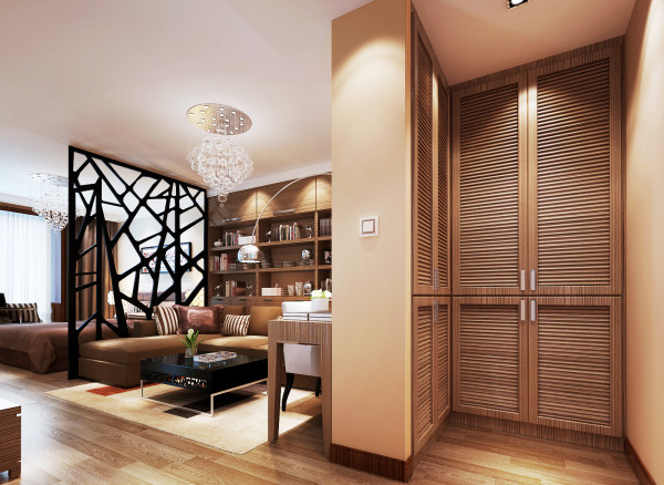 门厅是室内与室外之间的一个过度空间,也是进入室内换鞋、脱衣或从室内去室外整貌的缓冲空间,在住宅中虽然面积不大,但使用频率较高,是进入住宅的必经之处。