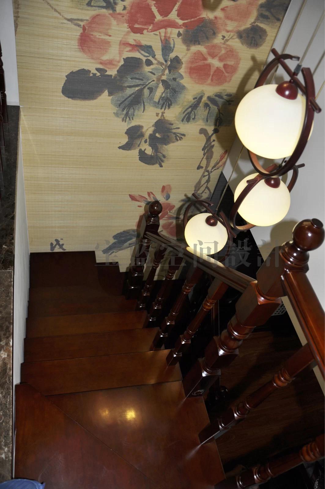 中式 楼梯图片来自众意装饰在城投瀚城——中式风格完工实景图的分享