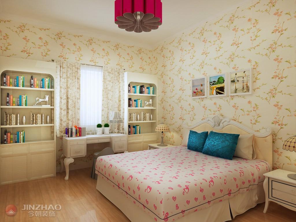 田园 卧室图片来自阿布的小茅屋15034052435在兰亭御湖城97平米--田园简欧的分享