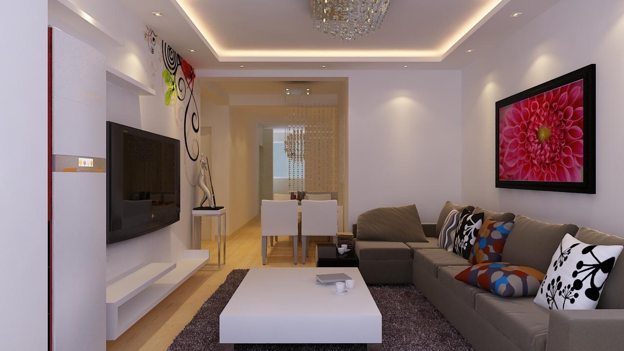 二居 简约 现代 玄关图片来自实创装饰晶晶在97平二居室现代简约风格设计的分享