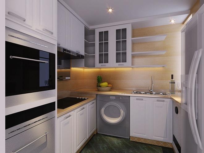 """欧式 简约 典雅 厨房图片来自太原香港豪装在""""形神""""的分享"""