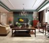 很多经过改良的中式元素或者带着低调的色彩,我们可给中式风格添加一些西洋味道。深色家具配单色墙面,常常会产生沉闷单调的感觉,在电视墙衬托下,反而令整个空间有一种清新的感觉。