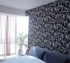 主卧室大软床,壁纸是选了很简单的色调