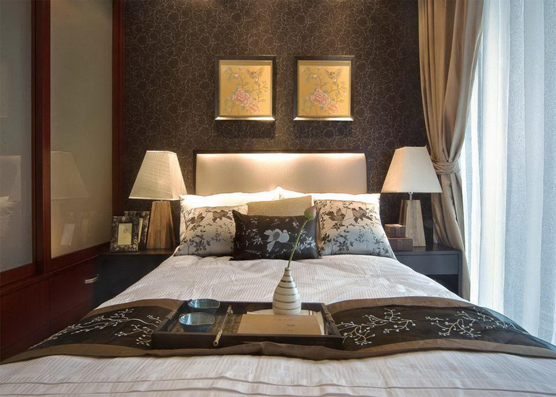 简约 小资 三居 卧室图片来自贾凤娇在自然简朴定制经典中式家居的分享
