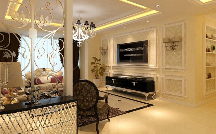 简约 欧式 三居 白领 收纳 80后 小资 客厅图片来自实创装饰百灵在简欧风装修174平米三居室的分享