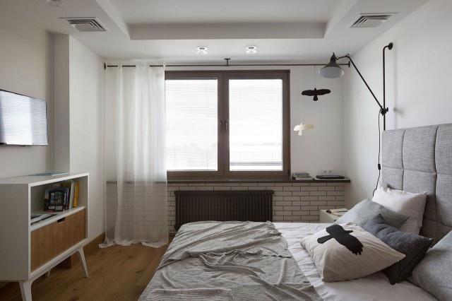 简约 三居 80后 小资 卧室图片来自上海实创-装修设计效果图在102平简约实木色精品屋的分享