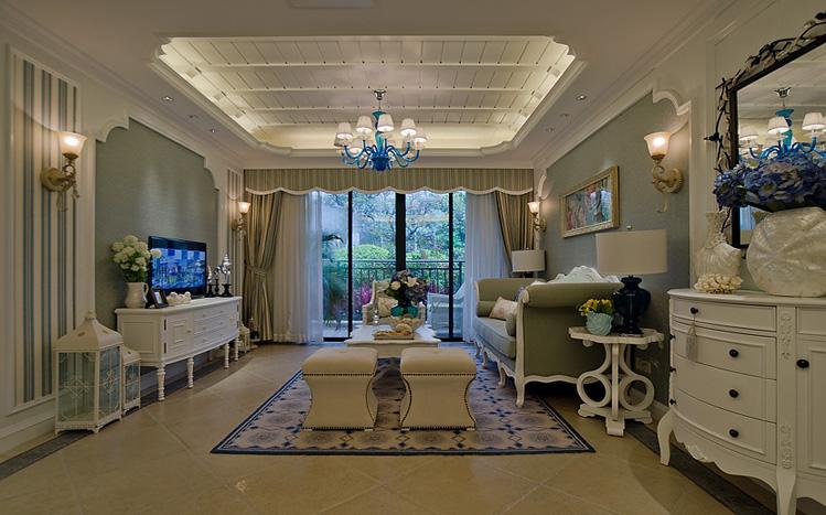 简约 美式 三居 白领 收纳 80后 小资 客厅图片来自实创装饰百灵在现代美式家装修117平米三居室的分享