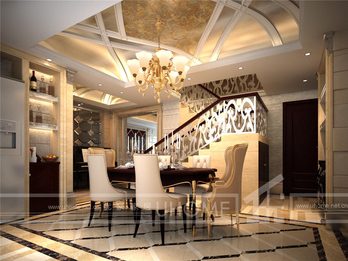 欧式 别墅装修 别墅设计 西郊半岛 奥邦装饰 餐厅图片来自上海奥邦装饰在西郊半岛别墅现代简约欧式风格的分享