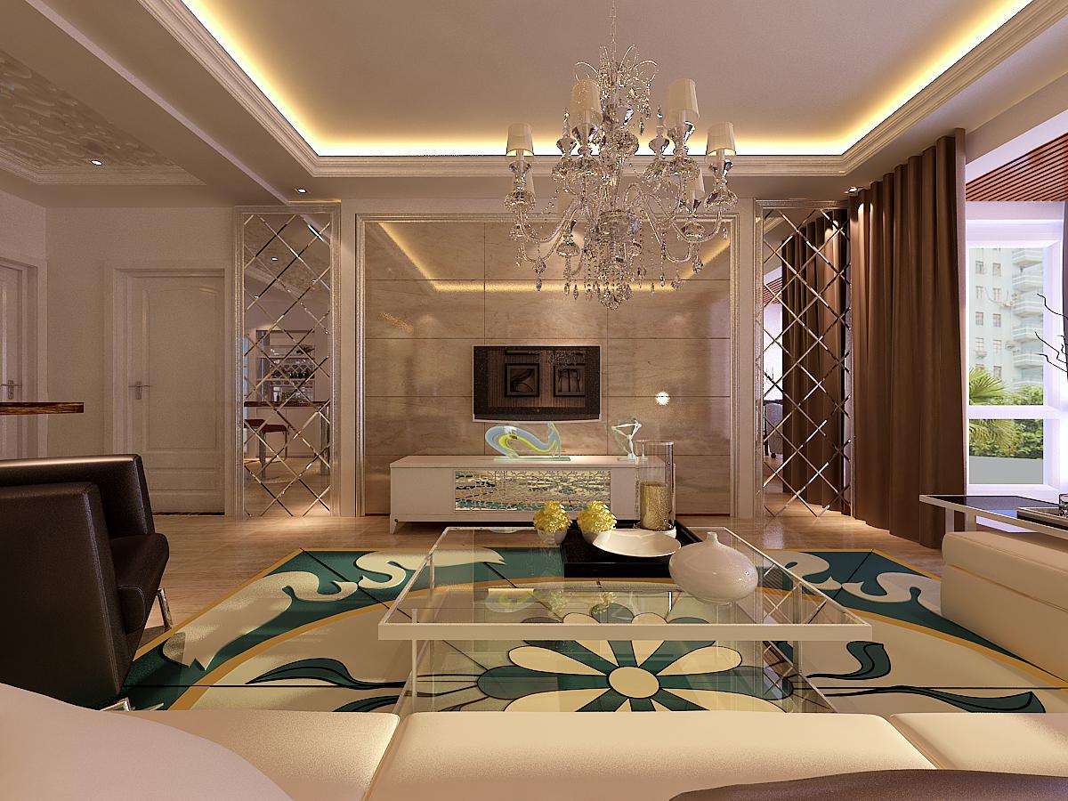 欧式 客厅图片来自上海华埔装饰设计中心在简约欧式的分享