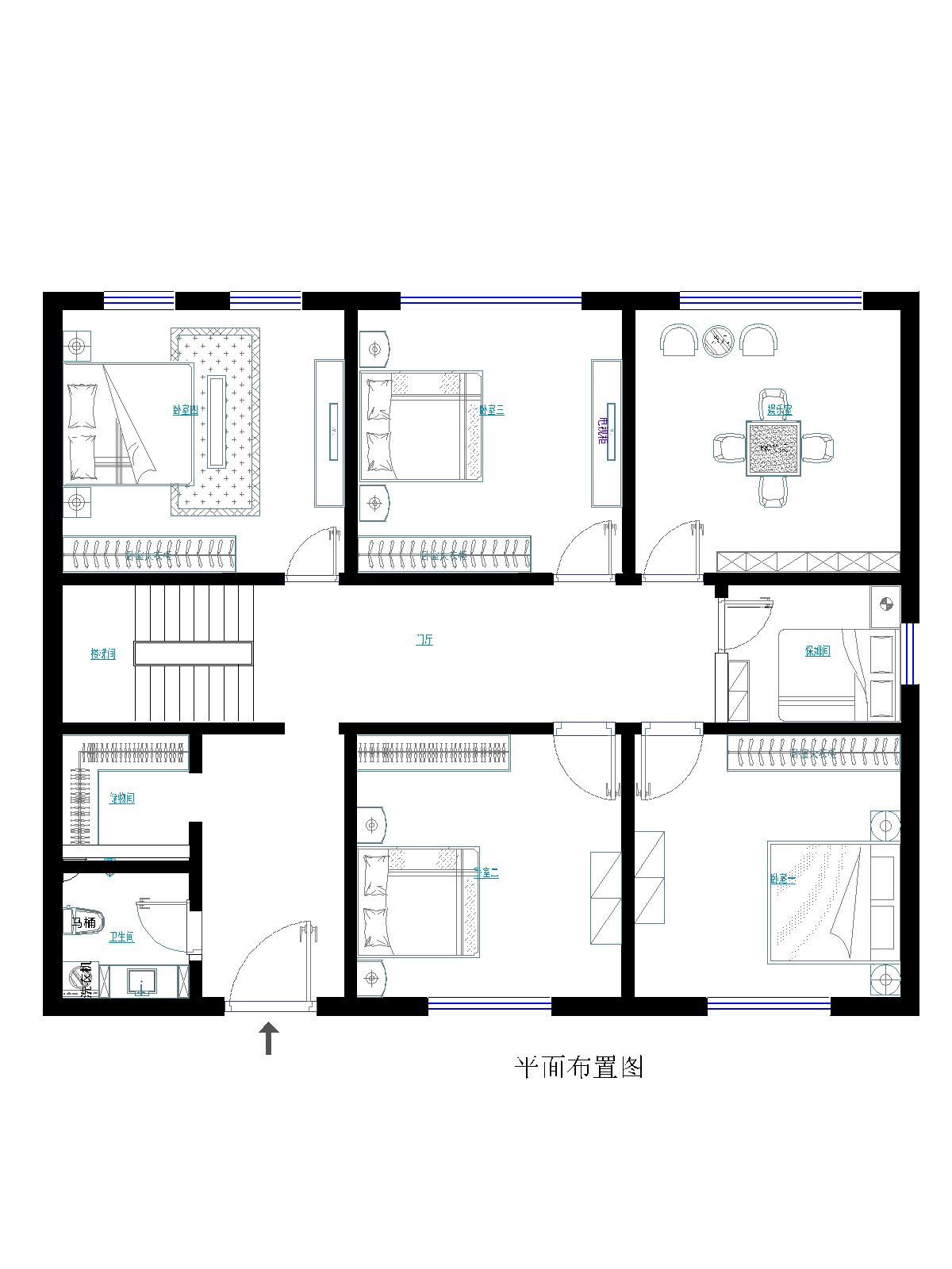 欧式风格 实创装饰 别墅装修 整体家装 户型图图片来自北京实创装饰在孔雀城235平米别墅欧式风格的分享
