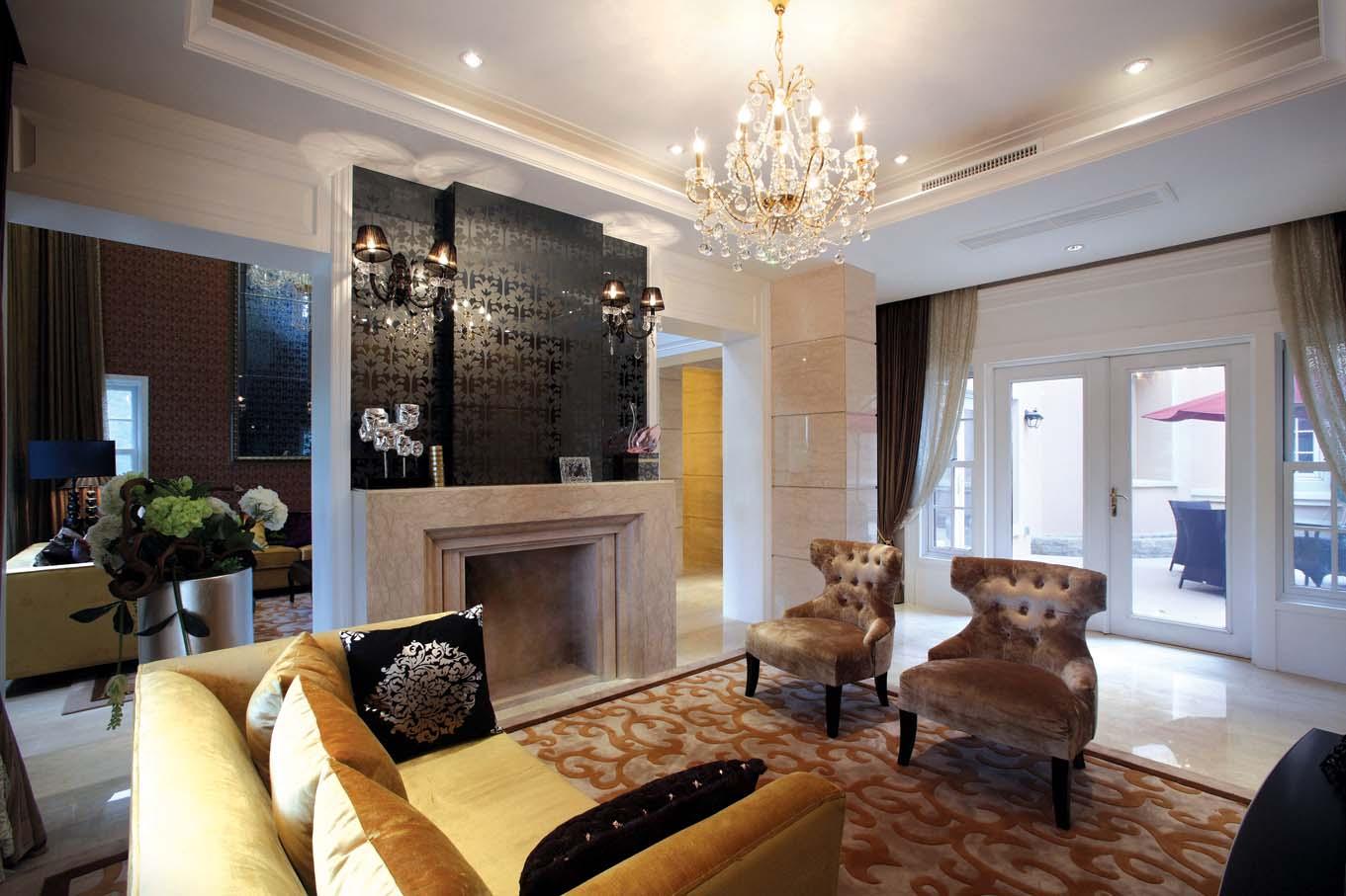 欧式 别墅装修 别墅设计 棕榈高尔夫 奥邦装饰 张文作品 客厅图片来自上海奥邦装饰在上海棕榈高尔夫别墅样板间装修的分享