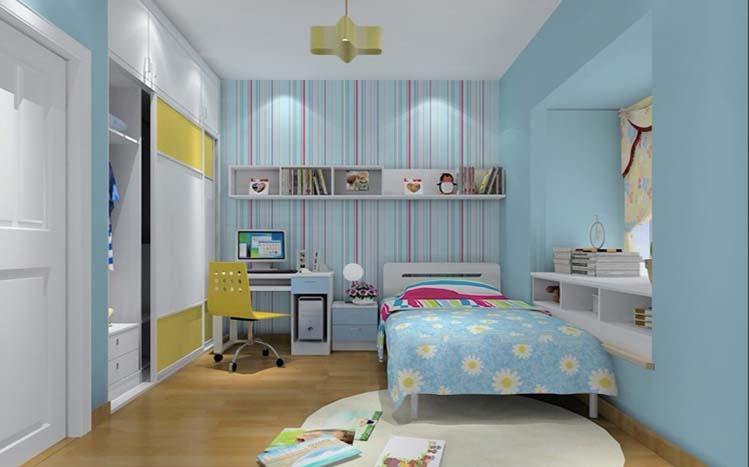 简约 三居 白领 收纳 旧房改造 80后 小资 儿童房图片来自实创装饰百灵在喧嚣中的宁静装修90平米三居室的分享