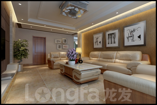 简约 白领 收纳 80后 小资 客厅图片来自北京龙发装石家庄分公司在星河御城150平的分享