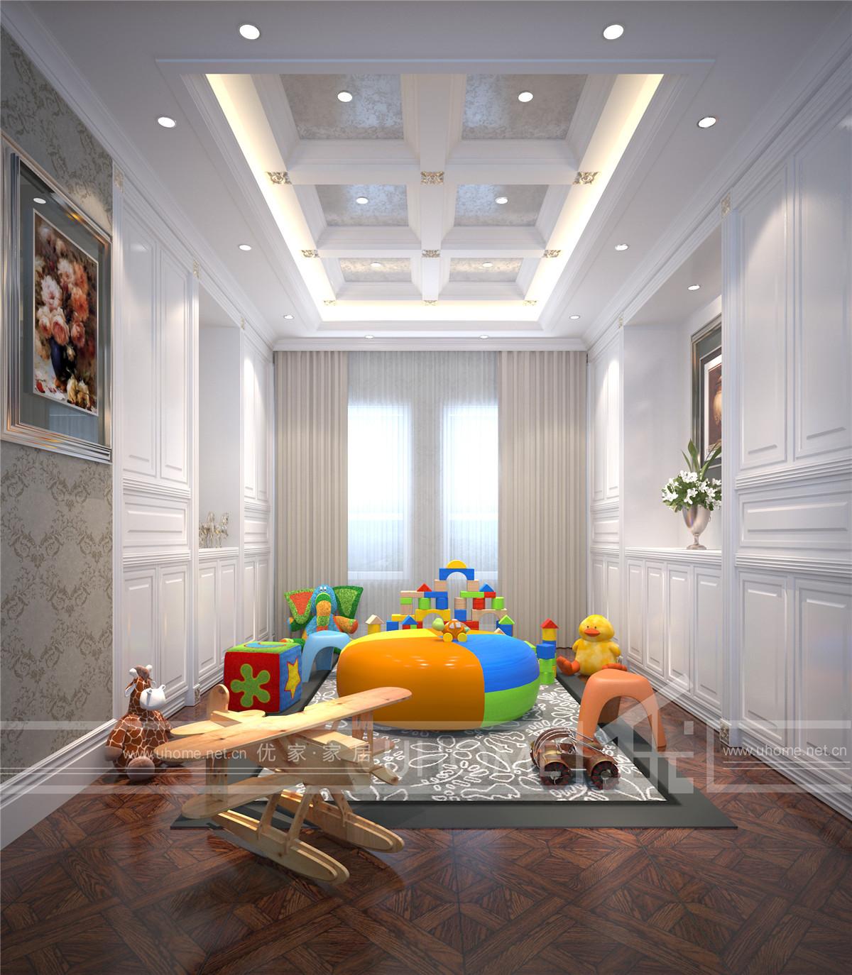 欧式 别墅装修 别墅设计 西郊半岛 奥邦装饰 儿童房图片来自上海奥邦装饰在西郊半岛别墅现代简约欧式风格的分享