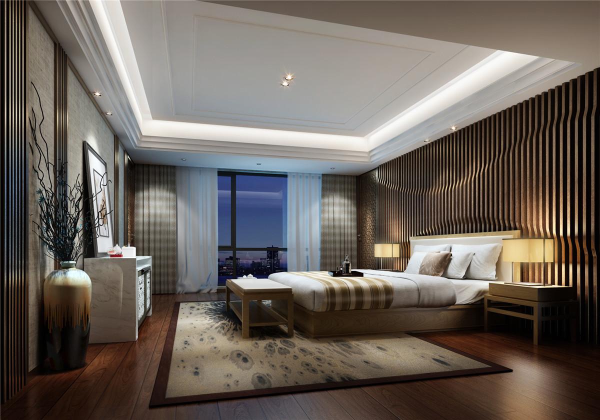 别墅装修 别墅设计 现代风格 奥邦装饰 卧室图片来自上海奥邦装饰在浦江华侨城别墅最新设计简约风的分享