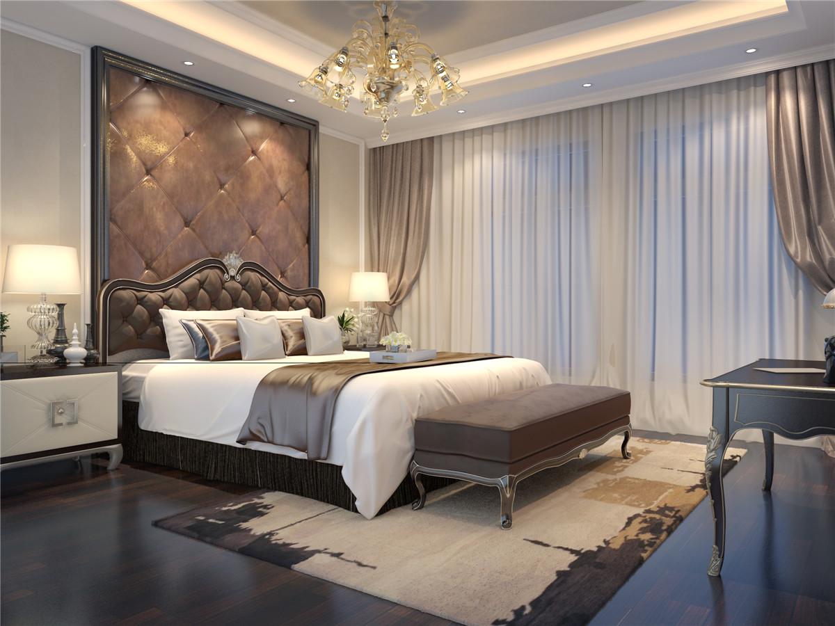 欧式 别墅装修 别墅设计 西郊半岛 奥邦装饰 卧室图片来自上海奥邦装饰在西郊半岛别墅现代简约欧式风格的分享
