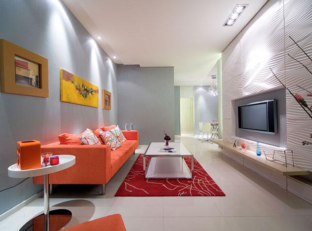 三居室户型 现代简约风 上海奥邦 奥邦装饰 浦江颐城 客厅图片来自上海奥邦装饰在浦江颐城晶寓三居室现代简约风的分享