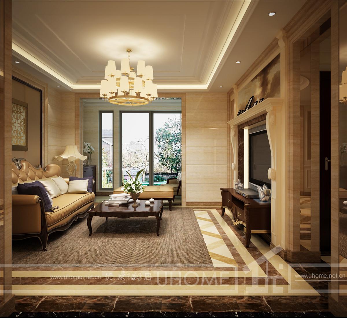 西郊半岛 别墅装修 现代风格 奥邦装饰 赵新艳作品 客厅图片来自上海奥邦装饰在西郊半岛别墅现代风格设计的分享