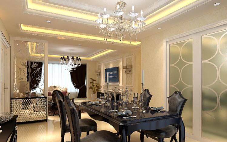 简约 欧式 三居 白领 收纳 80后 小资 餐厅图片来自实创装饰百灵在简欧风装修174平米三居室的分享