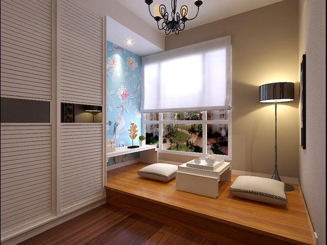 简约 现代简约 三居 收纳 小资 卧室图片来自上海实创-装修设计效果图在105平现代简约时尚雅居的分享