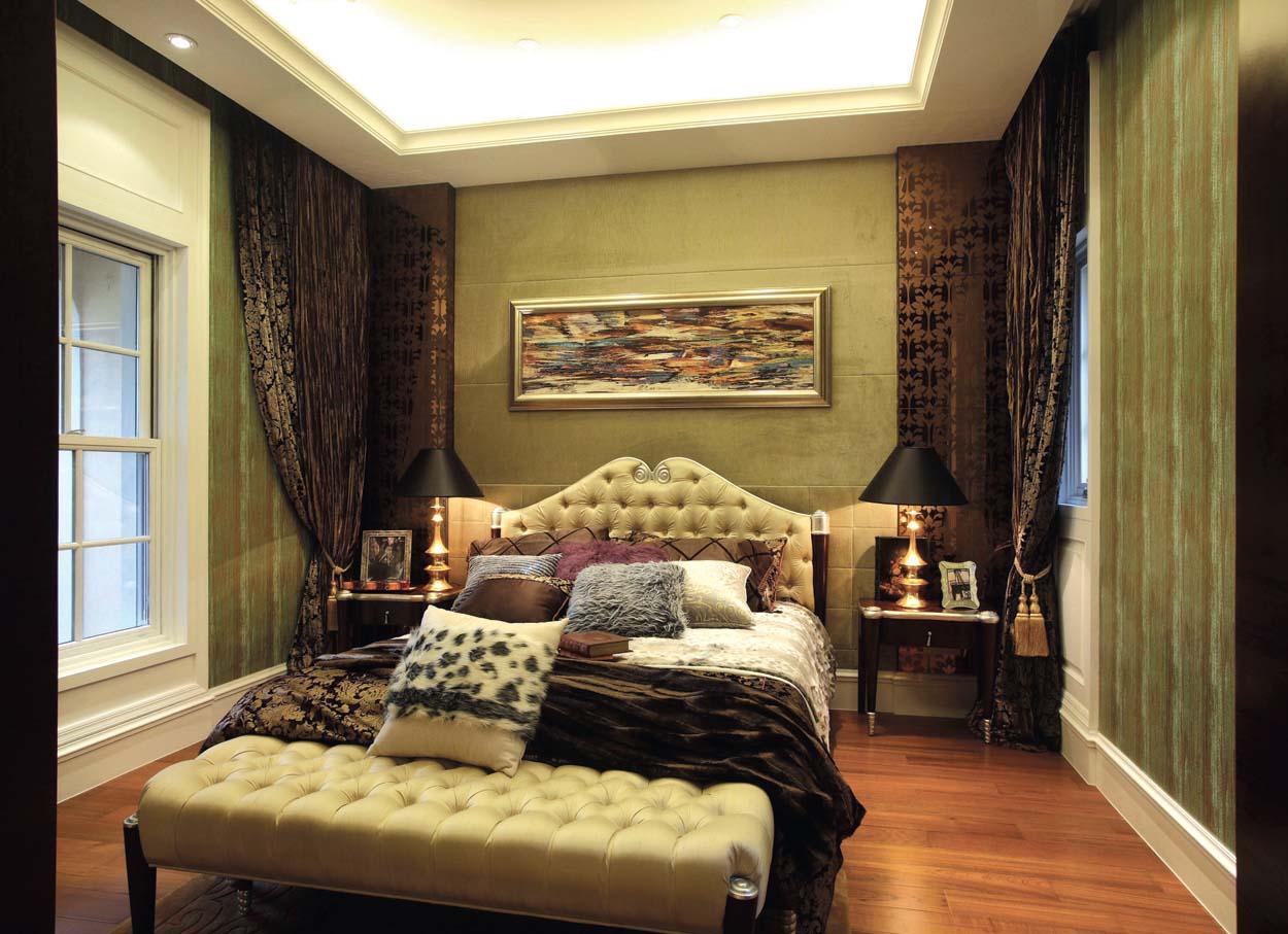 欧式 别墅装修 别墅设计 棕榈高尔夫 奥邦装饰 张文作品 卧室图片来自上海奥邦装饰在上海棕榈高尔夫别墅样板间装修的分享
