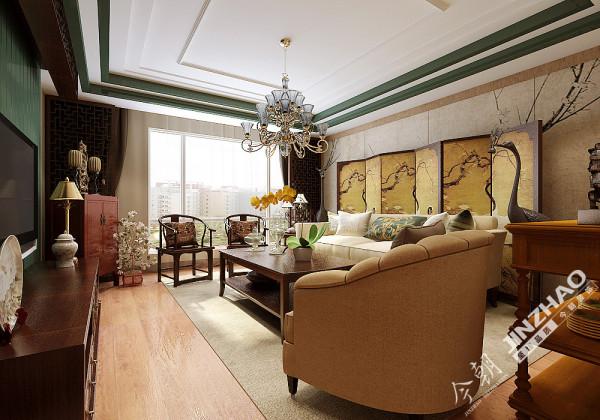 设计师采用雕花跌级吊顶和置物架与客厅形成一定连通,这样就能将阳台与客厅的光线引入玄关,让整体空间更加宽敞明亮。吊顶装饰大气沉稳,原木色地板、木质桌椅,一切都是舒适惬意的享受。