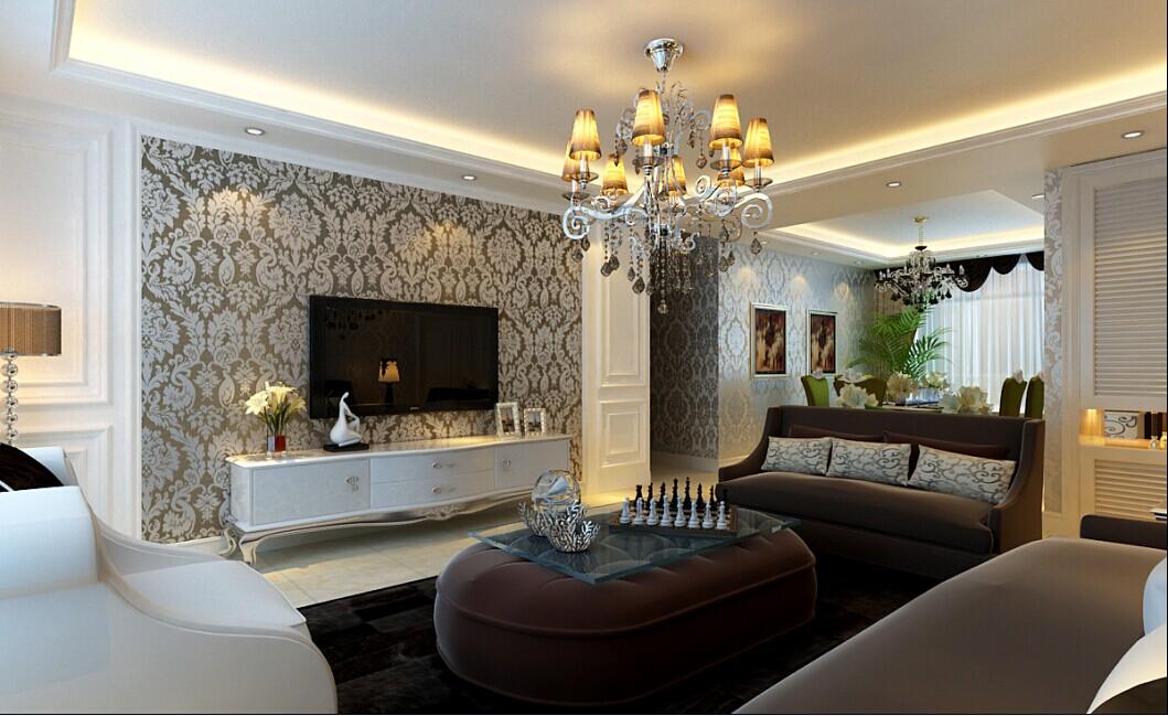 实创装饰 欧式风格 4居室 整体家装 大户型装修 客厅图片来自北京实创装饰在香悦四季160平米欧式风格4居室的分享