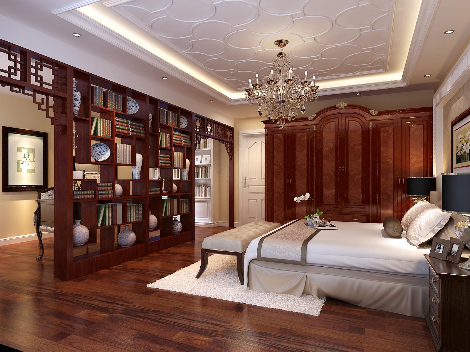 简欧风格 实创装饰 别墅装修 整体家装 卧室图片来自北京实创装饰在中海尚湖300平米别墅简欧风格的分享