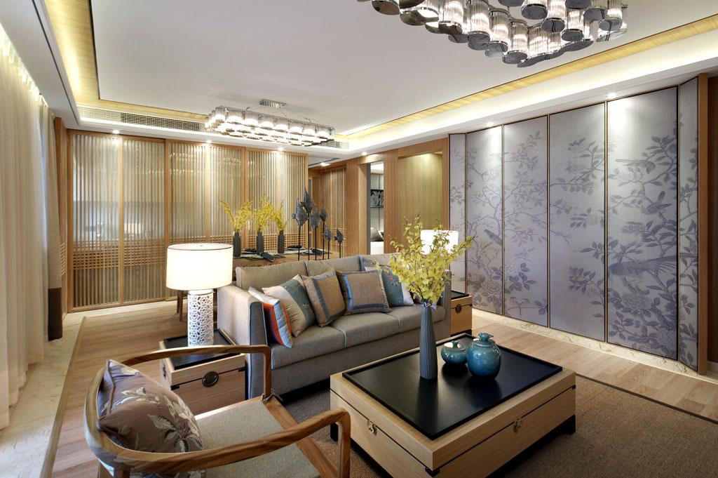 客厅图片来自香港KSL设计事务所在原木清风—KSL赣州样板房设计的分享
