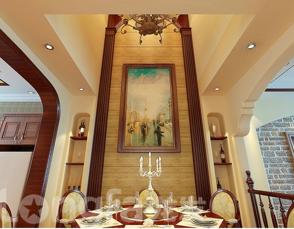 欧式 别墅 白领 80后 小资 餐厅图片来自北京龙发装石家庄分公司在江南新城别墅案例的分享